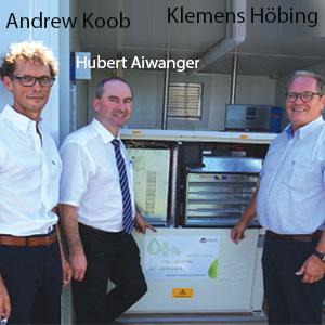 Klemens Höbing CEO & Co-Founder; Andrew Koob, Co-Founder, HYREF GmbH