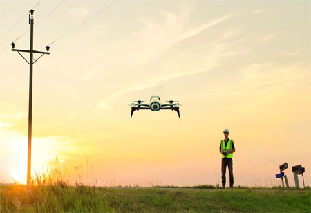 Collecting Data for the Energy Sector with Drone Technology