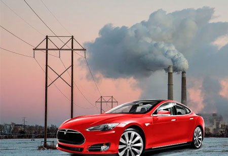 Reduction in Charging Emissions Caused by Electric Vehicles