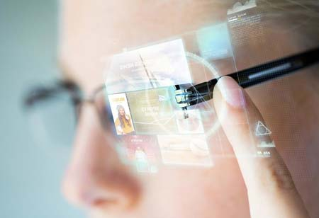 Transparent Smartglasses that Deliver Content Anywhere with AR